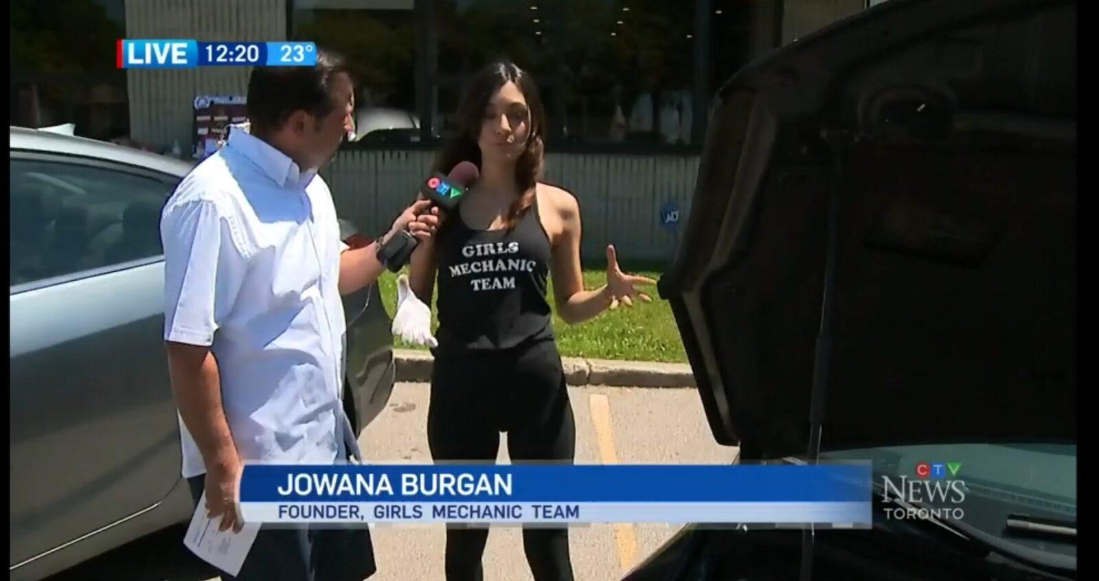 Jowana Burgan on CTV