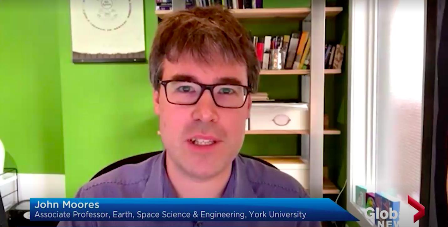 Screenshot of John Moores on Global News