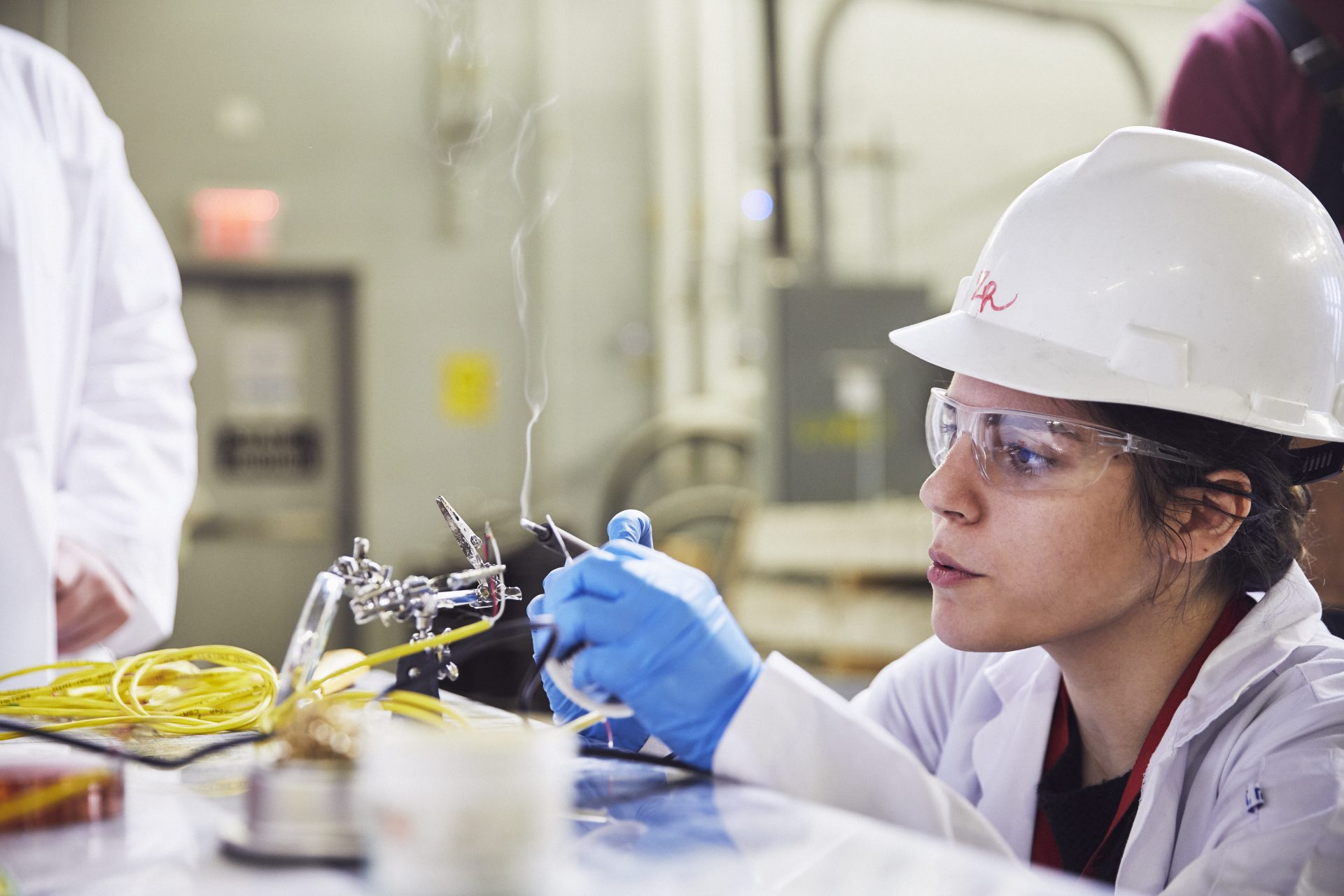 Worker in lab
