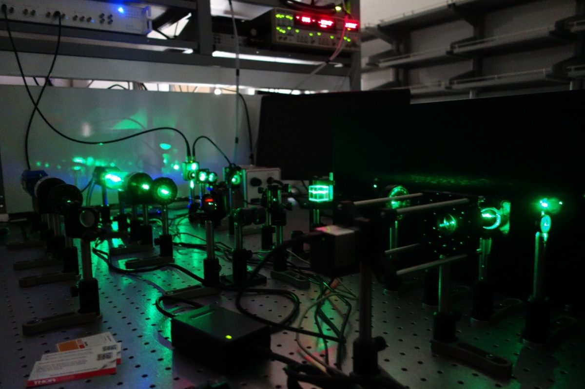 Setup used to test thermal properties at the nanoscale