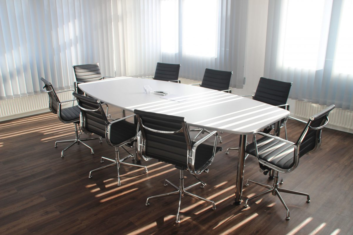 Image of a table with empty chairs