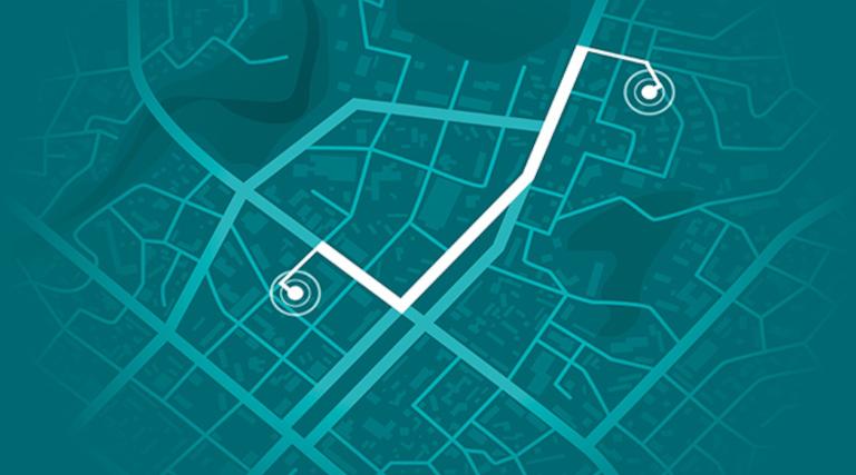 City map mockup